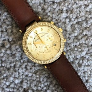 Michael Kors Stainless Steel Watch - Leather Band